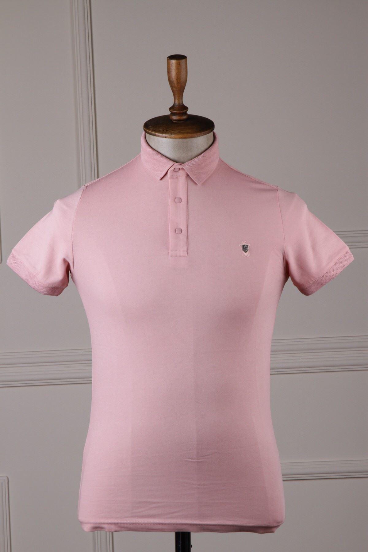 Erkek Polo Yaka T-Shirt - Somon