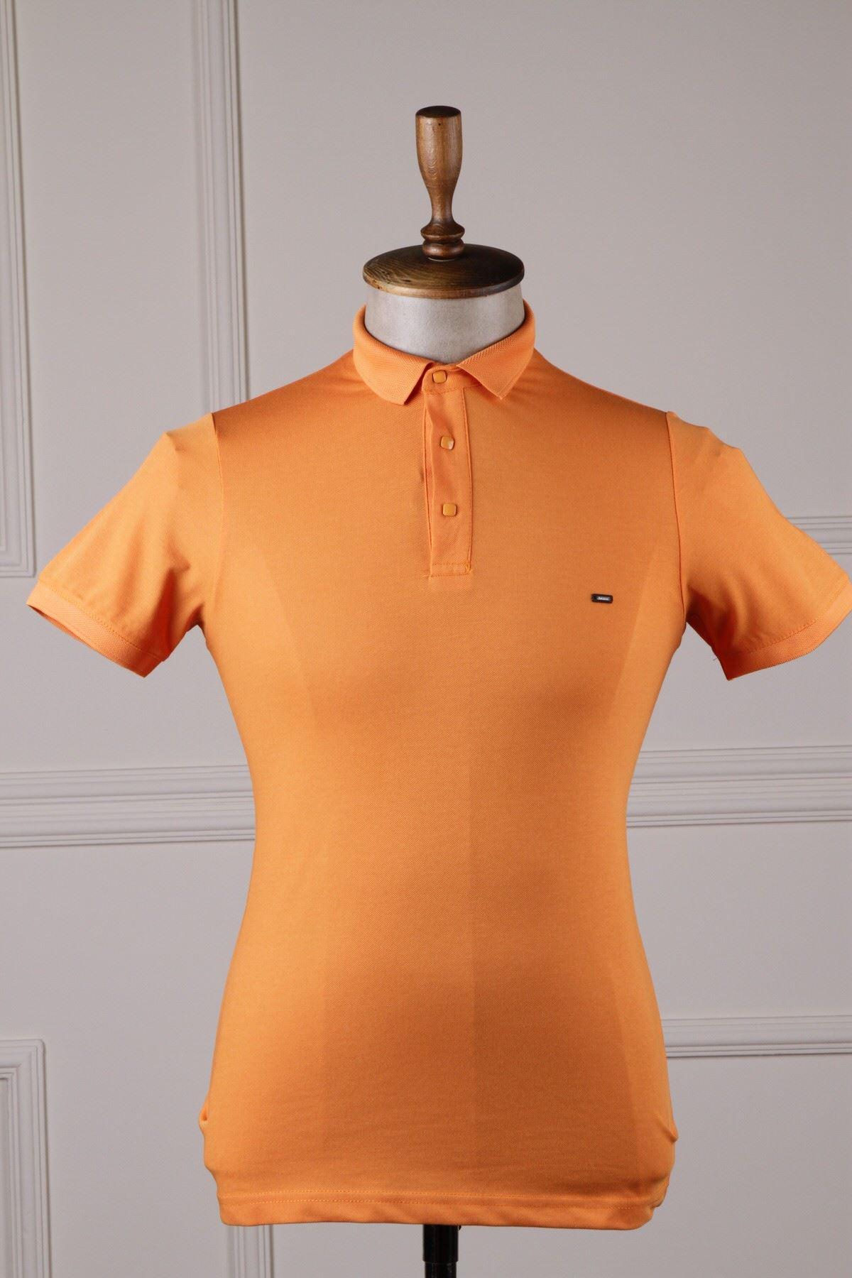 Erkek Polo Yaka T-Shirt - Oranj