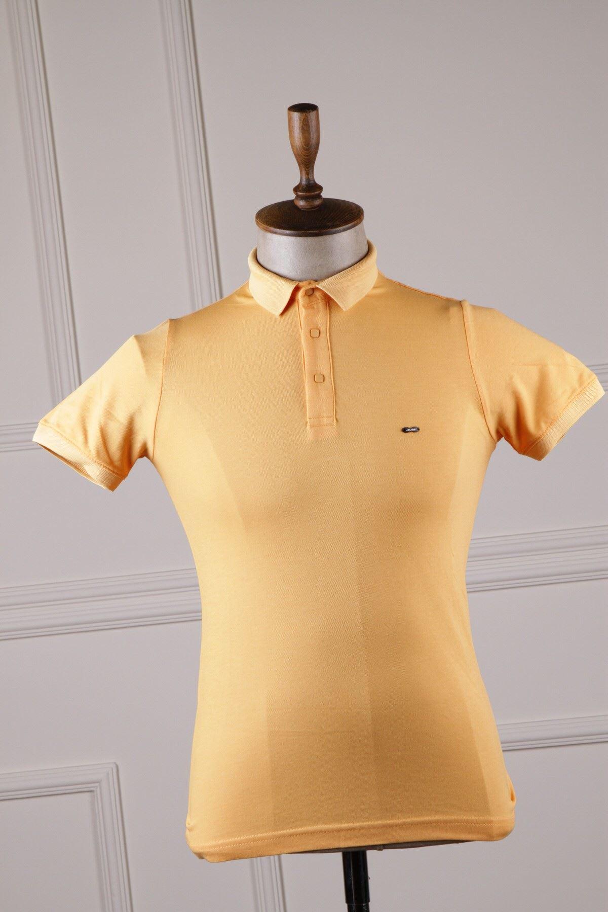 Erkek Polo Yaka T-Shirt - Safran