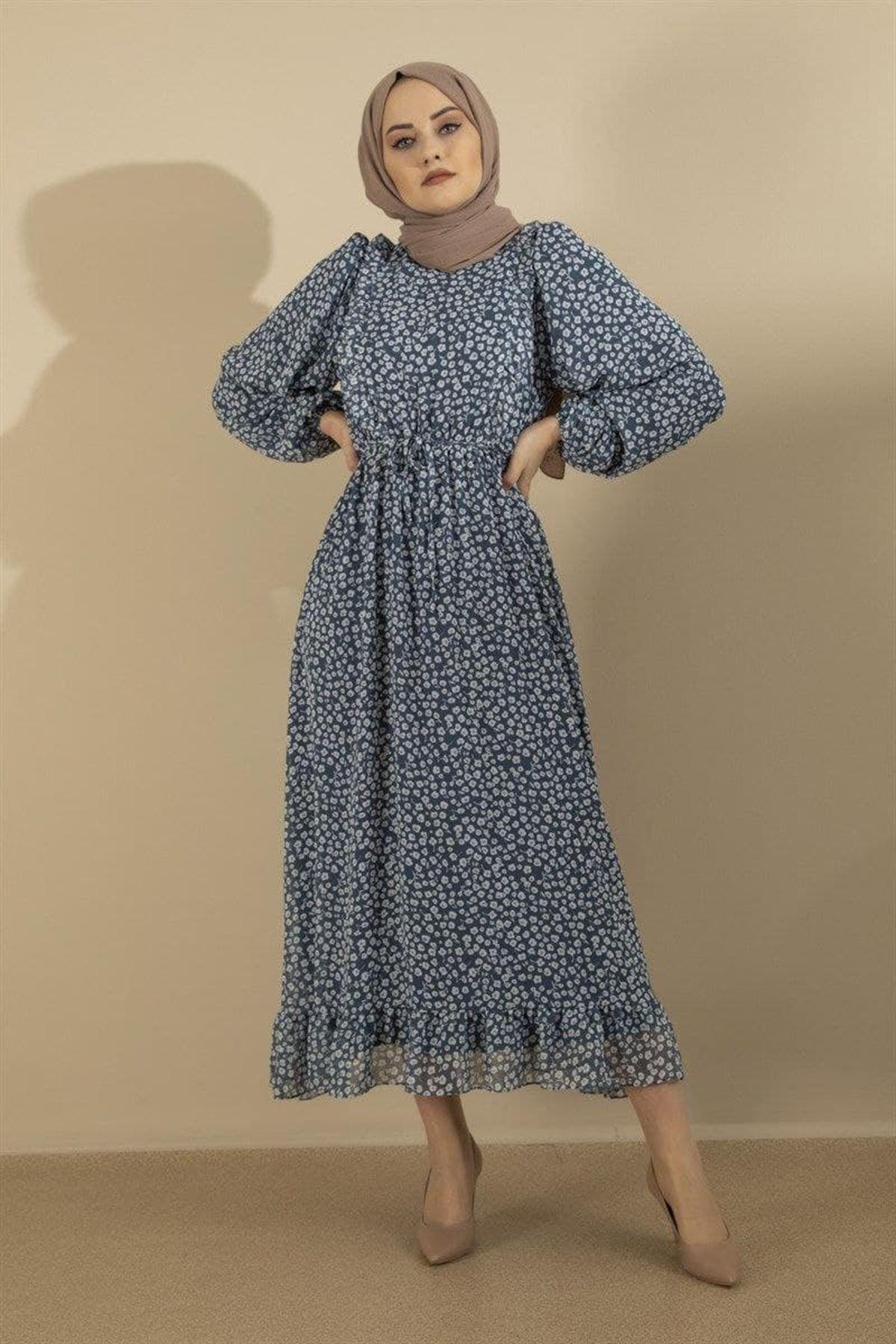 Kadın Elbise - İndigo