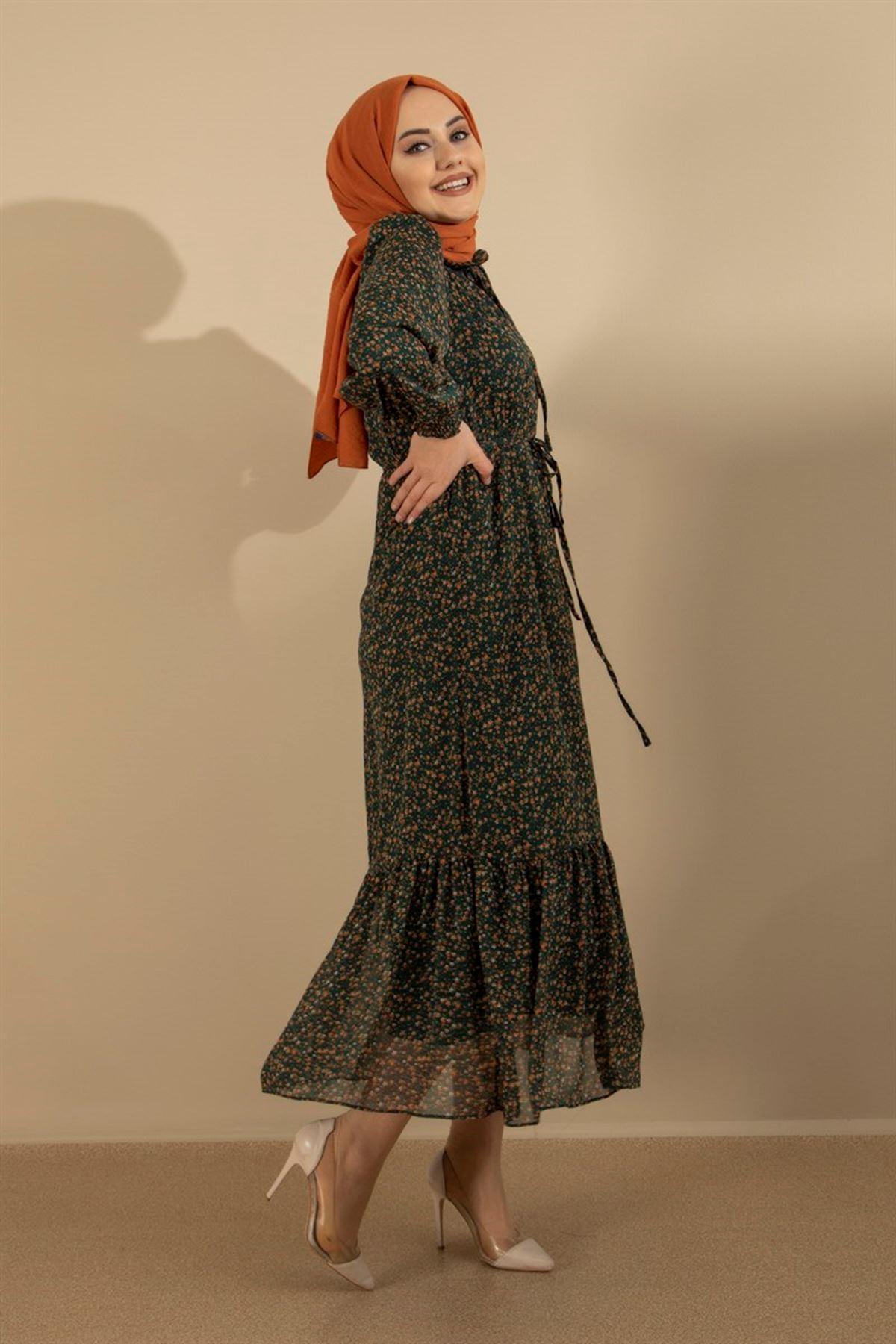 Kadın Elbise - Haki