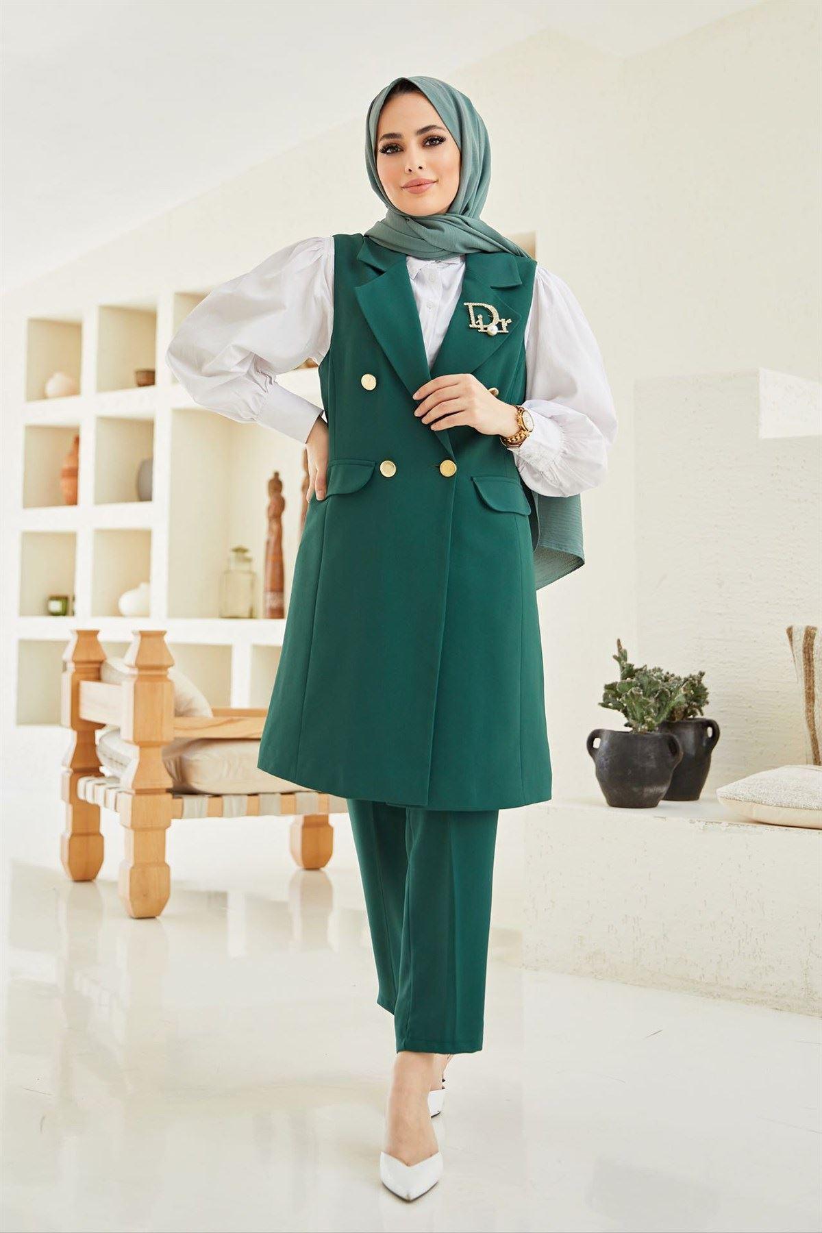 Kadın Business Yelek Pantolon Takım