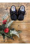Baby Tuğra Fiyonklu Makosen Patik Bebek Ayakkabı - Siyah